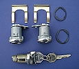 1955 1956 1957 Chevy Door & Ignition Lock Set Flat Pawl