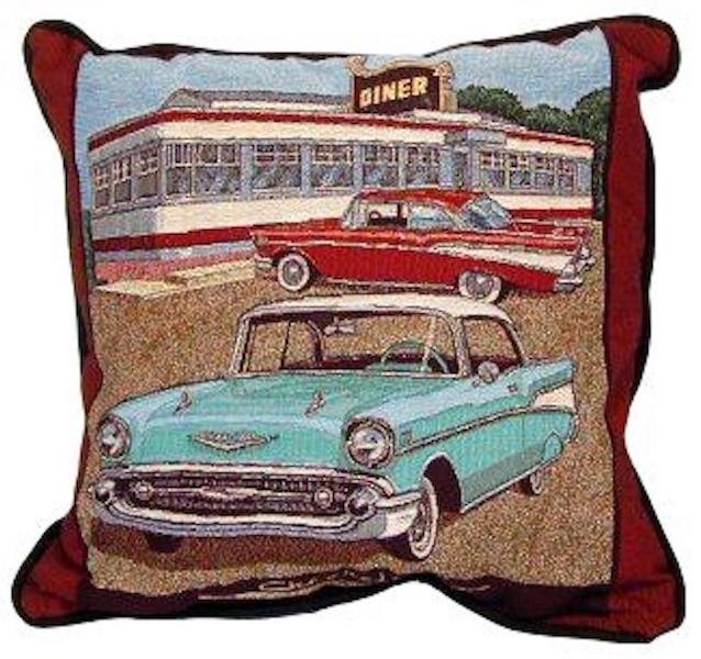 1957 Chevy Tapestry Pillow