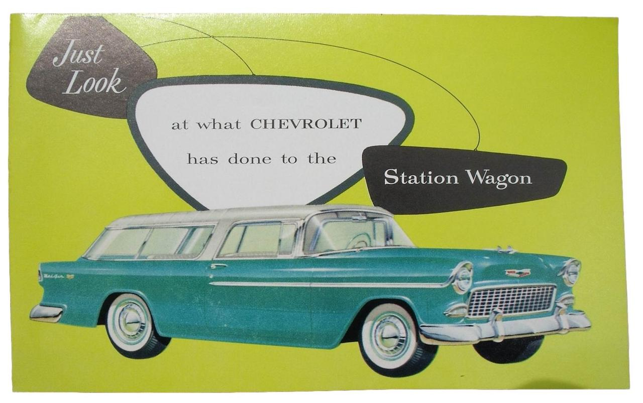 1955 Chevy Sales Brochure Nomad Wagons