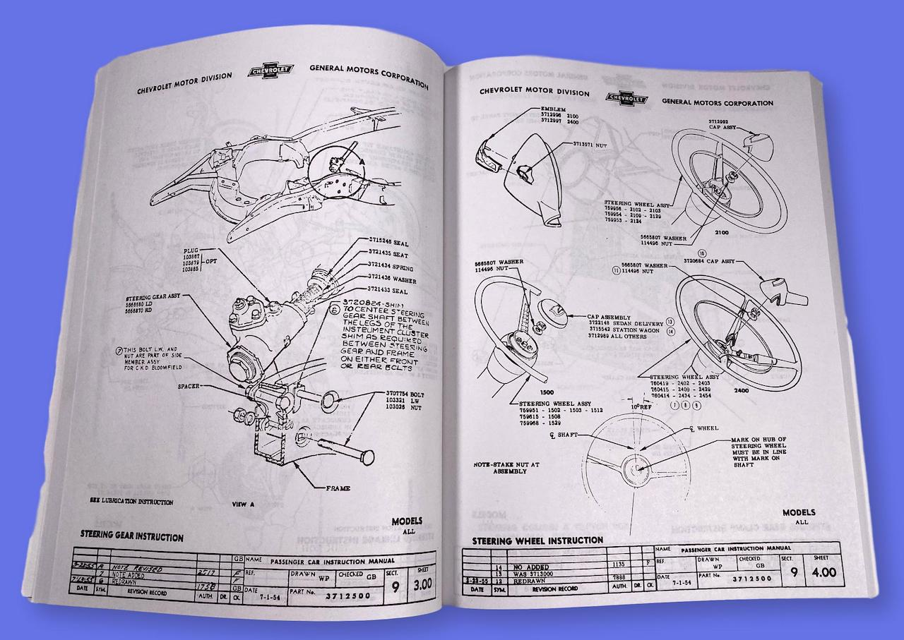 1955 Chevy Factory Assembly Manual Mutton Hollow Chevys