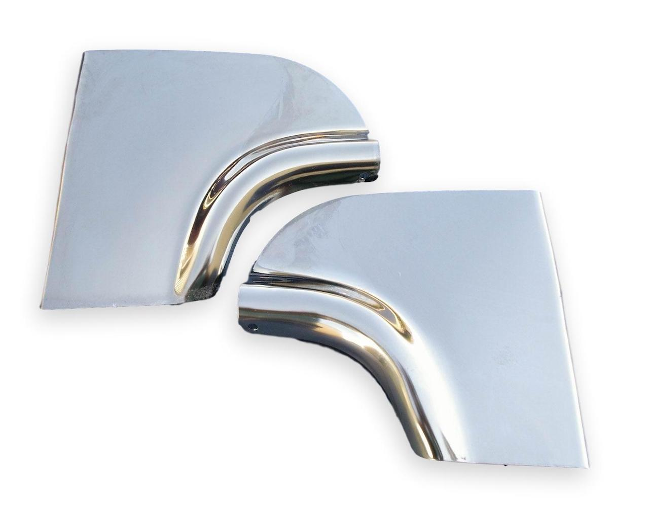 1955 Chevy Fender Skirt Scuff Pads Stainless Steel
