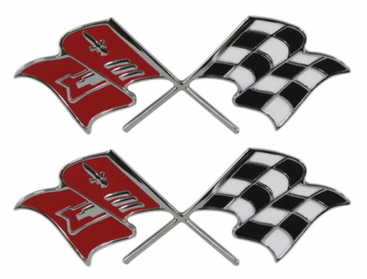 1957 Chevy Fuel Injection Flags Emblem