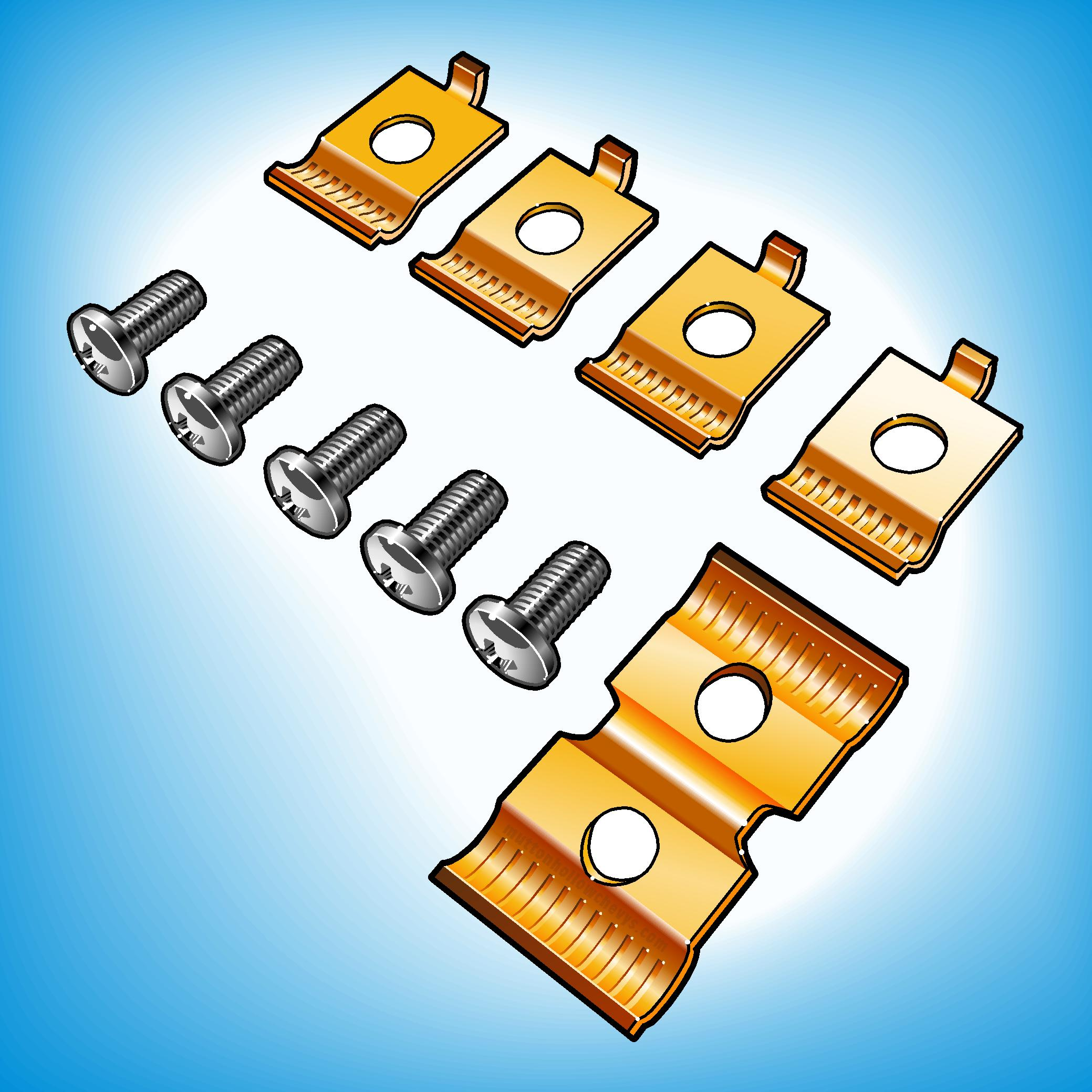 Heater & Cooling Clips, Fasteners & Screws