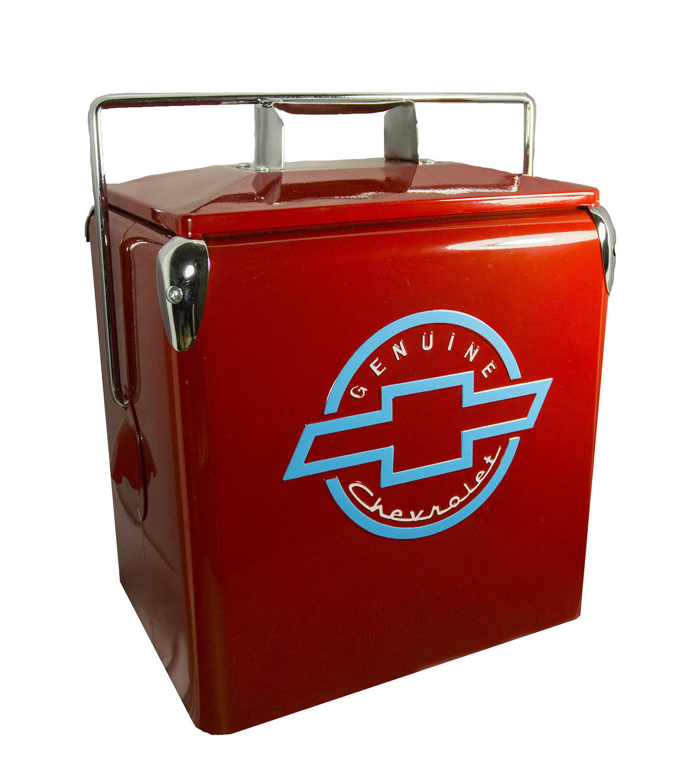 Classic Chevrolet Picnic Cooler Red