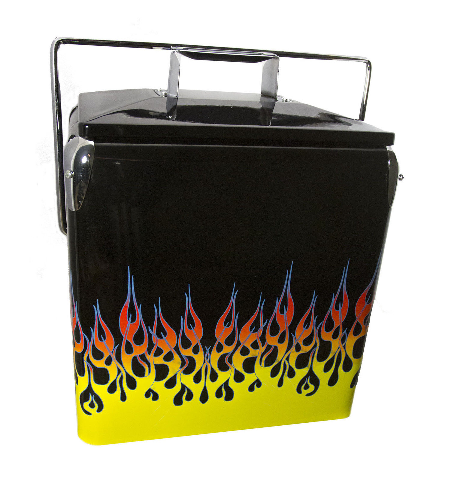 Classic Flamed Picnic Cooler American Retro FLAMES