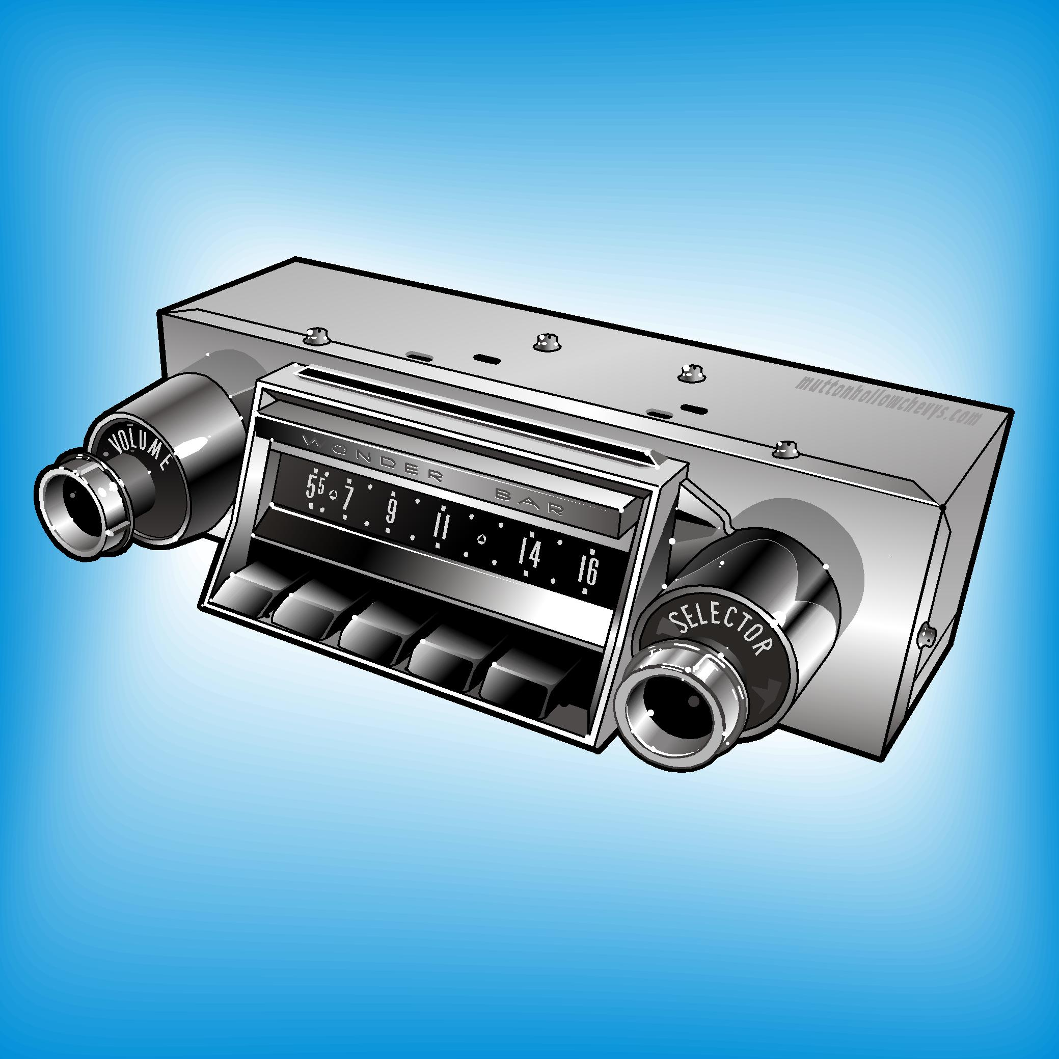 Audio Amp Stereo Parts For 1955 1956 Amp 1957 Chevy Mutton