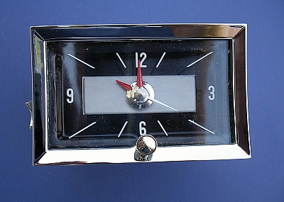1957 Chevy Quartz Clock Black Face