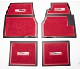 1955 1956 1957 Chevy Red Carpet Floor Mats With Crest Logo