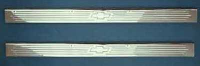 1955 1956 1957 Chevy Billet Sill Plates With Bow Tie