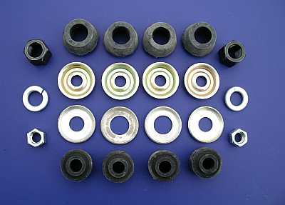 1955 1956 1957 Chevy Rear Shock Mounting Rubber & Hardware Kit