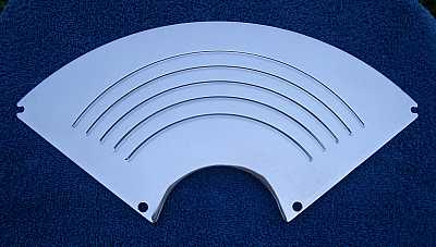 1955 1956 Chevy Billet Radio Speaker Grille Cover