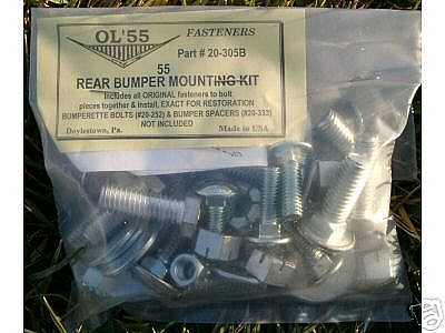 1955 Chevy Rear Bumper Mounting Bolt Kit