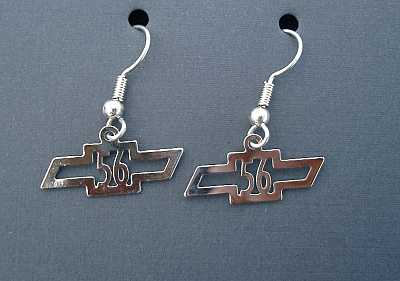 1956 Chevy Chrome Earrings
