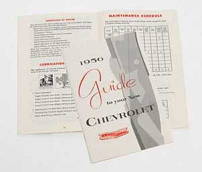1956 Chevy Owner's Manual
