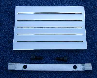 1957 Chevy Clock Delete Panel With Lines