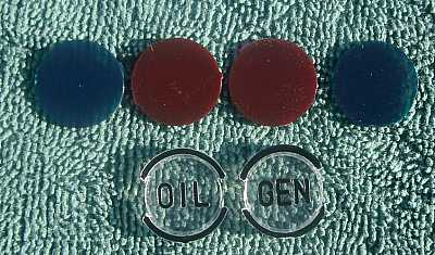 1957 Chevy Dash Indicator Lenses & Color Inserts Set