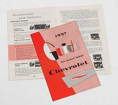 1957 Chevy Owner's Manual