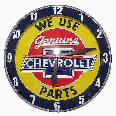 Chevrolet Double Bubble Glass Clock