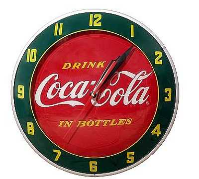 Coca-Cola Double Bubble Glass Clock