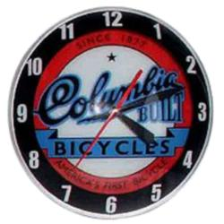 Columbia Double Bubble Glass Clock