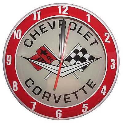 Corvette Double Bubble Glass Clock