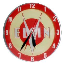 Elgin Double Bubble Glass Clock