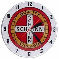 Schwinn Double Bubble Glass Clock