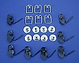 1955 Chevy Bel Air Front Fender Moulding Clips