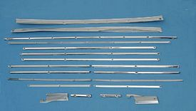 55 56 57 Chevy Nomad Stainless Cargo Trim Set