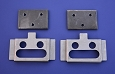 1955 1956 1957 Chevy Lower Tailgate Hinge Mounting Plates, Pair, Nomad & Wagon