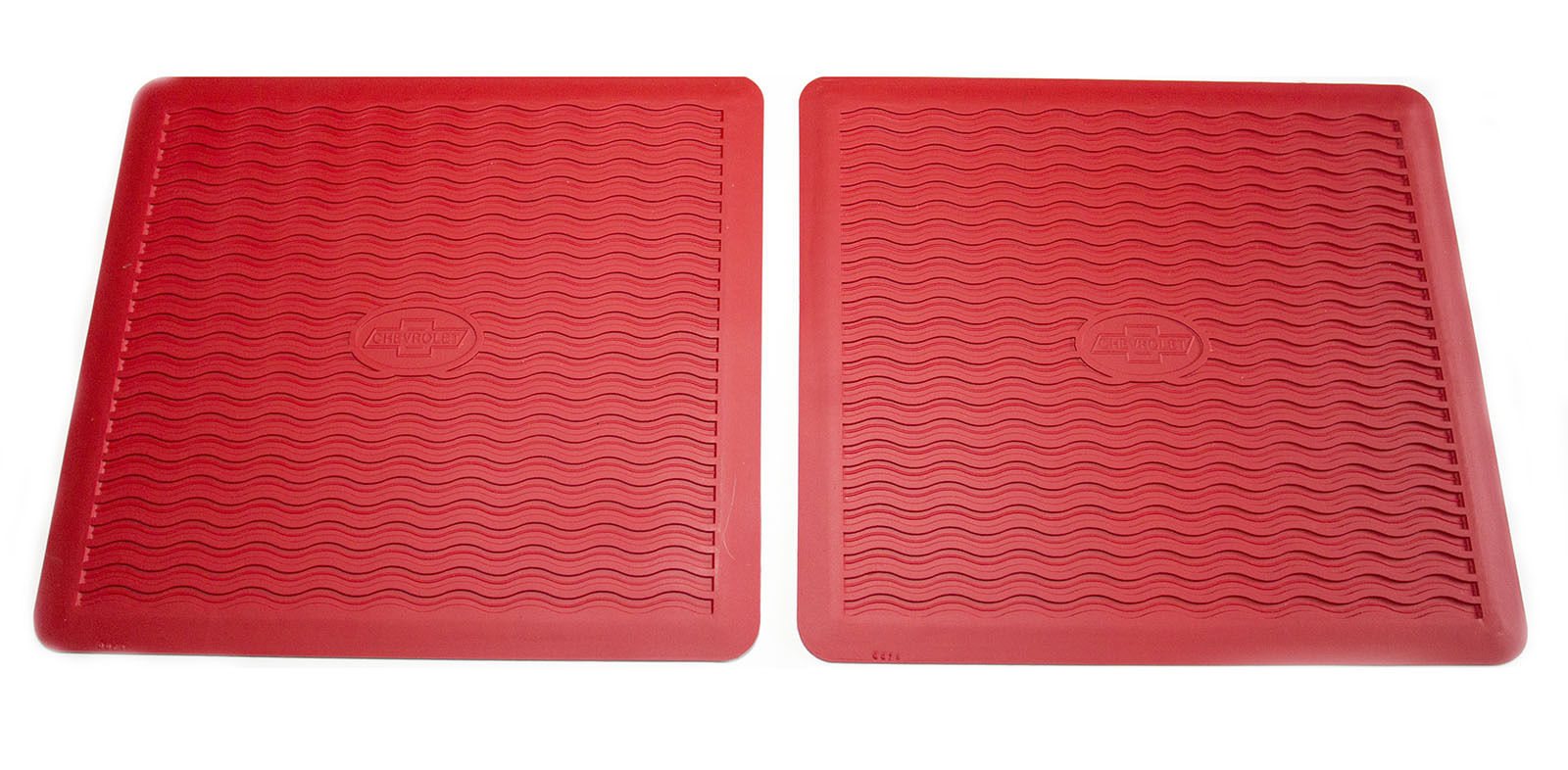 1955 1956 Chevy Factory Accessory Floor Mats RED