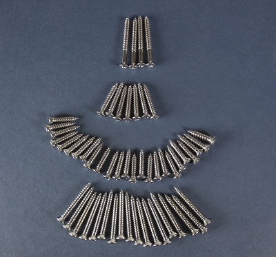 1956 1957 Chevy 4-Door Sedan Interior Trim Screw Set