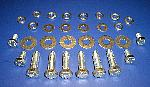 1955 1956 Chevy Hood Hinge Hardware Kit Stainless Steel