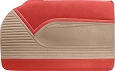 1955 Chevy Bel Air 2-Door Hardtop Door Panels, Windlace & Kick Panel Set