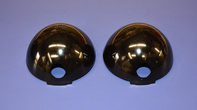 1955 1956 Chevy Horn Covers, BLACK, Pair