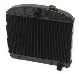 1955 1956 Chevy Radiator V-8 Hi-Efficiency 4-Row Mounts In The 6 Cyl. Position