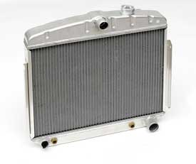 1955 1956 Chevy Aluminum Radiator V-8 Hi-Efficiency Mounts In The 6 Cyl. Position