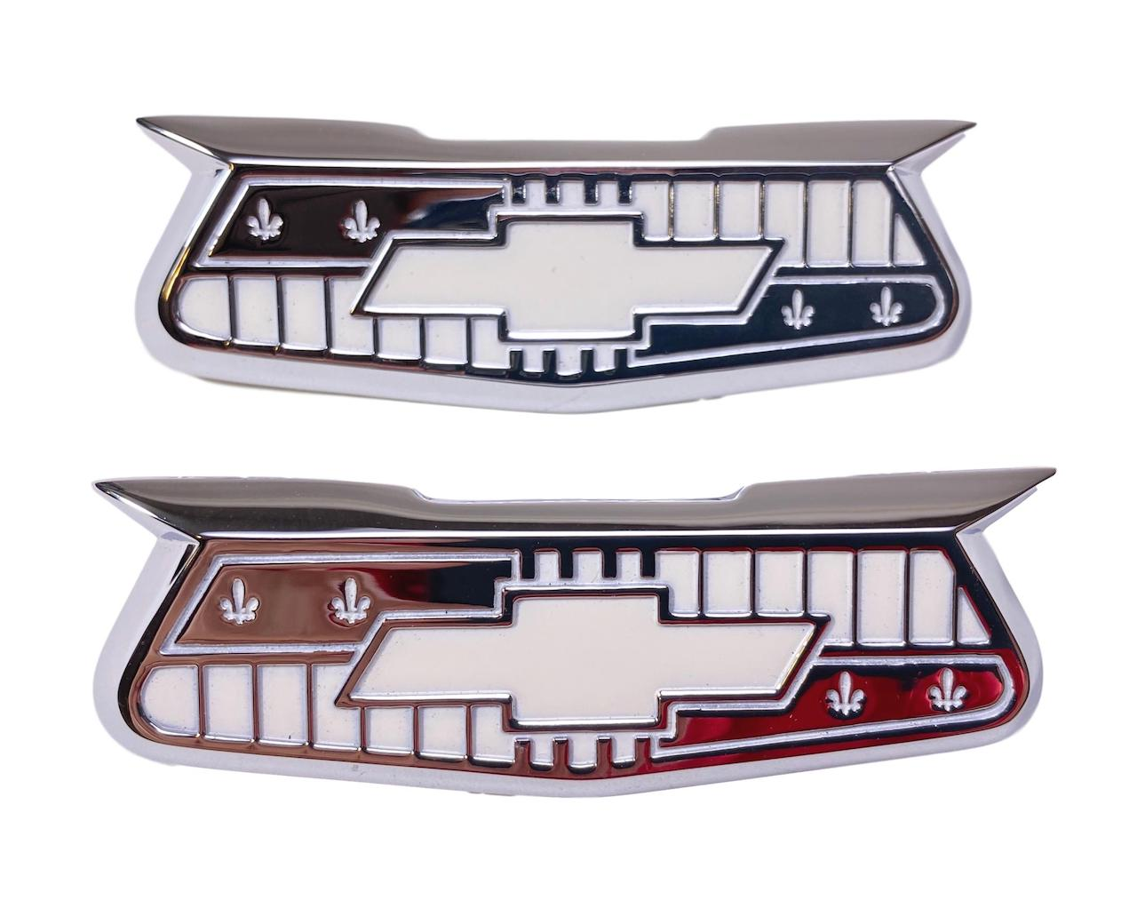 1956 Chevy Chrome Bel Air Crest Emblems