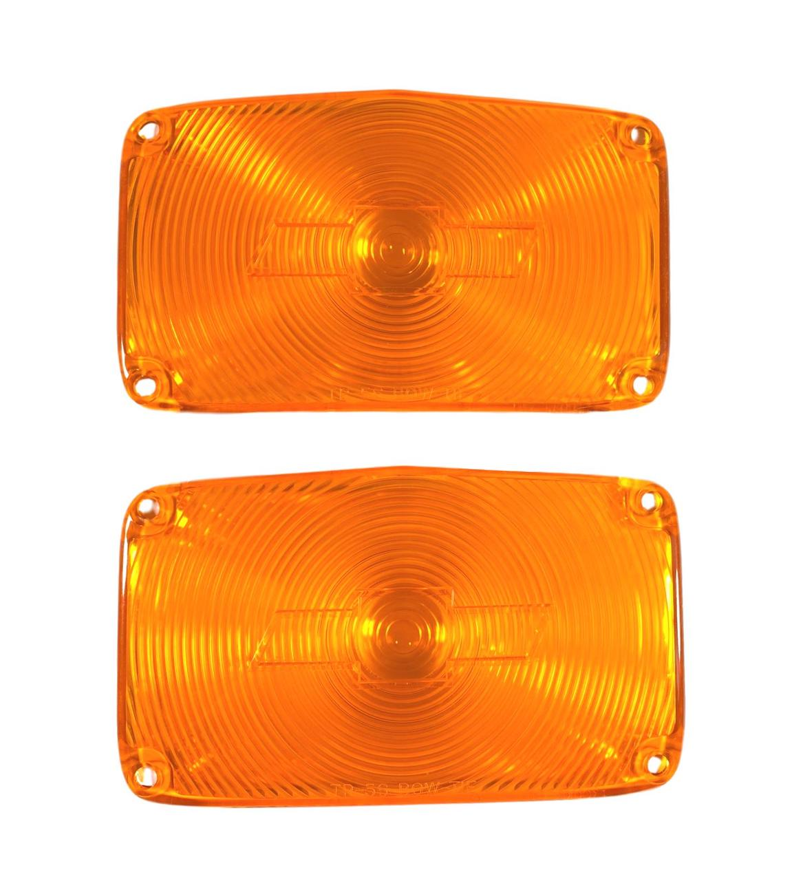 1956 Chevy Amber Parklight Lenses with Bowtie