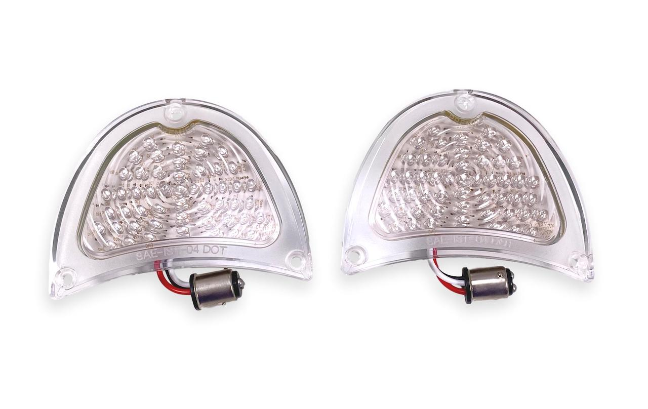 1957 Chevy Clear LED Taillight Lenses
