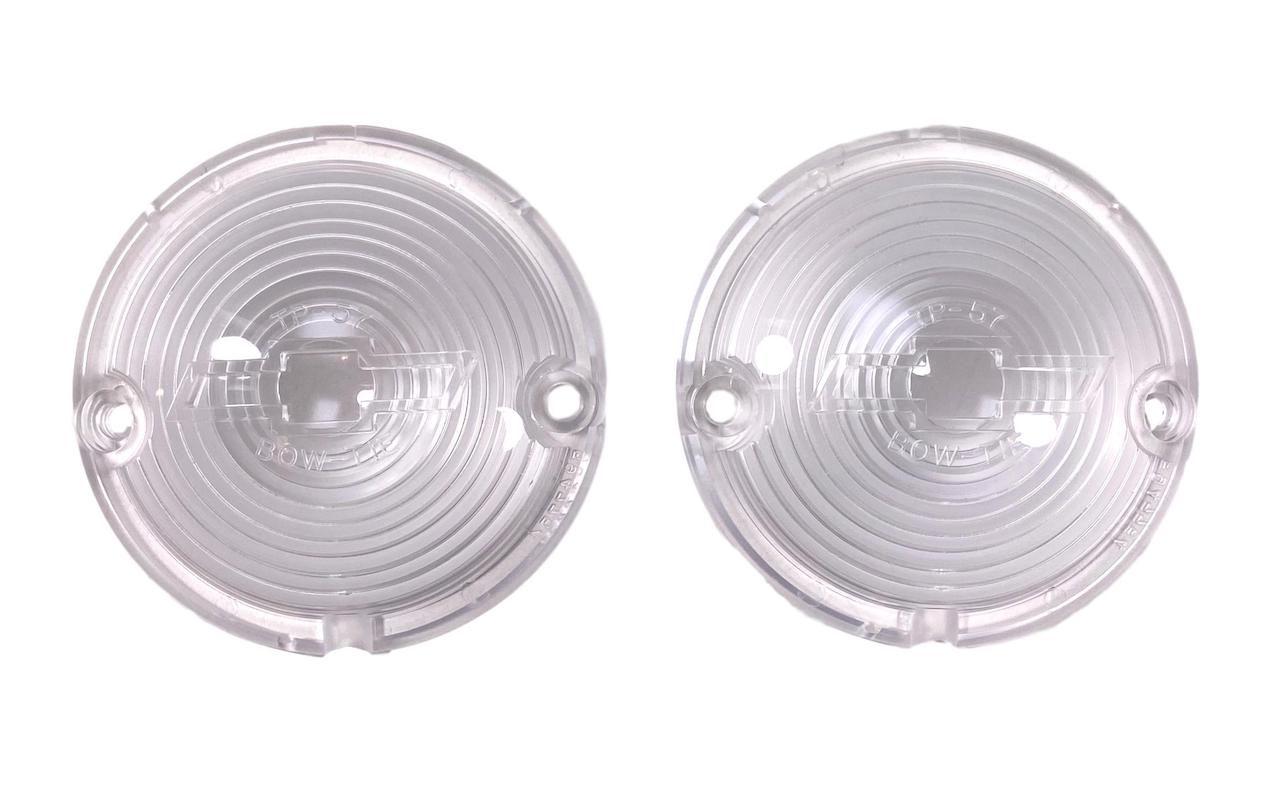 1957 Chevy Clear Parklight Lenses With Bowtie