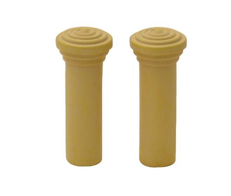 1955 1956 1957 Chevy Door Lock Knobs Pair Yellow