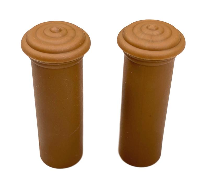 1955 1956 1957 Chevy Door Lock Knobs Pair Tan