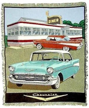 1957 Chevy Tapestry Throw Blanket