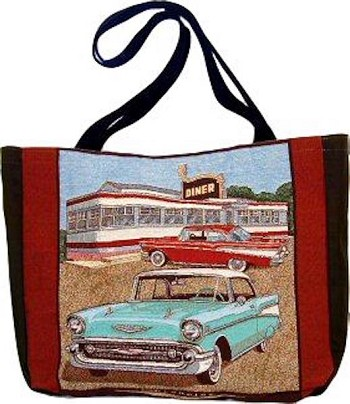 1957 Chevy Tapestry Tote Bag