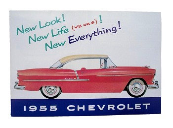 1955 Chevy Sales Brochure