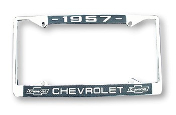 "1957 Chevy License Plate Frame ""1957 Chevrolet"""