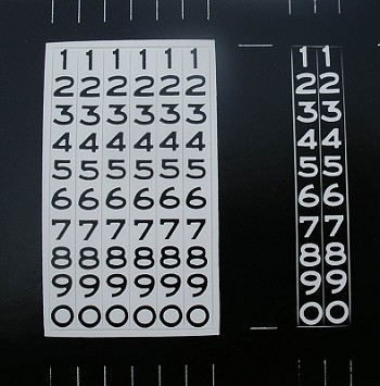 1955 1956 1957 Chevy Odometer Number Decals BLACK Numbers