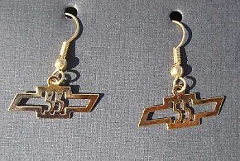 1955 Chevy Gold Earrings
