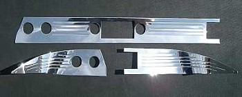 1957 Chevy Billet Polished Aluminum Dash Trim With Lines & Stock Radio Cutout